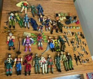GI JOE COLLECTION - pieces & original weapons, backpacks, figures + FREE ROBIN