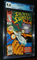 SILVER SURFER #v3 #34 1990 Marvel Comics CGC 9.4 NM White Pages