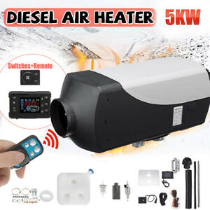12V 5kW Chauffage Diesel Air Fuel Heater pour Voiture Camion Bus +Thermostat LCD