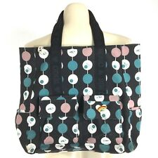 O'Neill Large Canvas Bag Surfer Black White Green Pink Polka Dot Pocket Beach