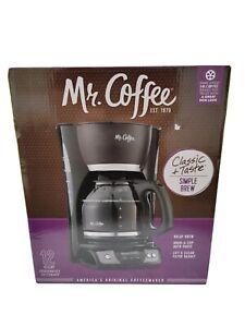 Mr. Coffee Programmable 12 Cup Coffee Maker Machine Brew Black CGX23 New In Box