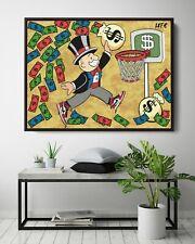 More details for monopoly x air jordan canvas art (poster print) alec inspired - pop wall art