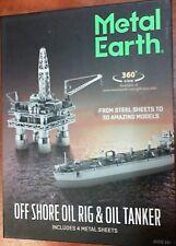 NEW Fascinations Metal Earth Off Shore Oil Rig & Oil Tanker 3D Model - MMG105