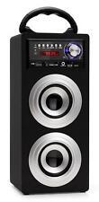 Portable Bluetooth Lautsprecher Box Stereo Anlage USB SD MP3 Player Radio Silber