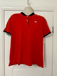Lacoste Sport Mens Red Short Sleeve Polo Shirt 100% Cotton UK Size XL Xtra Large