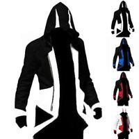 Men's  Creed Hoodie  Cosplay For Assassins Jacket Coat Costume Gifts Kits