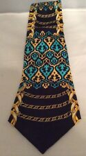 Rush Limbaugh No Boundries Tie Gold Chain Blue Gold Black