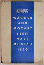 WAGNER & MOZART FESTIVALS MUNICH 1930/ Classical Music/ Bavarian State Theatres