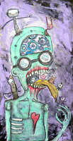 MOUTH OF MISFITS art artist painting acrylic outsider lowbrow abstract Gus Fink
