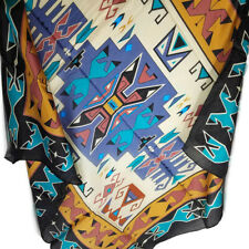 "Wyoming Traders Wild Rag Southwest Sandstone Black 100% Silk Scarf - 34.5"""