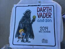 STAR WARS DARTH VADER & SON 2014 WALL CALENDAR BY JEFFREY BROWN FACTORY SEALED