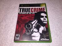 True Crime: Streets of LA (Microsoft Xbox, 2003) Original Release Complete Exc!