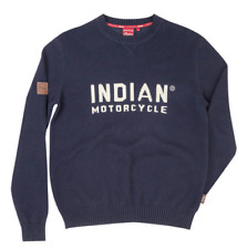 INDIAN MOTORCYCLE MENS NAVY PULLOVER KNIT SWEATER w/BLOCK LOGO size M L XL 2X 3X