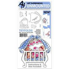 BABY Welcome Tryfolds Clear Unmounted Rubber Stamp Set ART IMPRESSIONS 4852 New