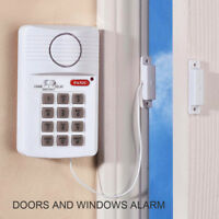 HOME SAFE 110 db Wireless Magnetic Door Window Alarm with Programmable Keypad