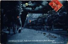 CPA Saint Etienne. la nuit, Préfecture&Jardin de la Place Marengo. (664916)