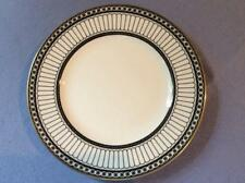 "Wedgwood black Colonnade bone china 8"" salad plate R4340"