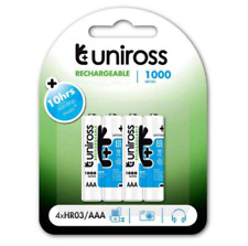 UNIROSS AAA 1000 Series Ni-MH Rechargeable Batteries - 4 Pack