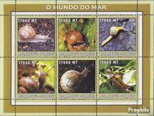 Mosambik 2596-2601 Velletje postfris MNH 2002 Wereld van Marine