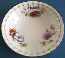 Vintage Royal Albert flor del mes Tazones 14cm Bone China Hecha En Inglaterra