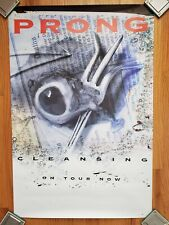 "PRONG original Promo Poster ""Cleansing - On Tour Now"" Never Hung 24"" x 36"""