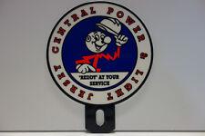 JERSEY CENTRAL POWER & LIGHT Reddy Kilowatt Plate Topper ELECTRICIAN GIFT