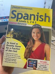 Instant Immersion Spanish (Latin American) Levels 1, 2 & 3 PC & MAC DVD software
