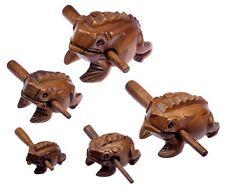 5 x Klangfrosch Klang Frosch Klangtier Holz Tier Musik Percussion Instrument