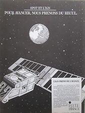 3/1986 PUB IGN SATELLITE SPOT ESPACE SPACE SPOT-IMAGE TELEDETECTION ORIGINAL AD