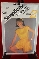 Simplicity 6278 Size 10 Clothing Pattern