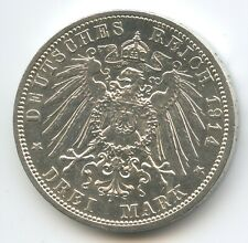 S0159 - German States Prussia 3 Mark 1914 A KM#538 Silver Wilhelm I. Preussen
