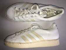 Vintage Adidas Shoes Sneakers Made In France Men's 4 Deadstock White 80s