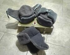 Authentic USSR Soviet Russian army soldier winter cap hat ushanka + Badge