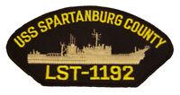 USS SPARTANBURG COUNTY LST-1192 PATCH USN NAVY NEWPORT CLASS TANK LANDING SHIP