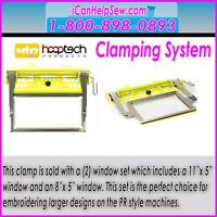 Hooptech Slim Line I Clamping System Embroidery Hoops Ebay