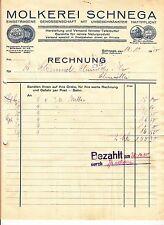 Litho Rechnung Molkerei Schnega Prov. Hannover 1930 ! (D1
