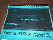 BROWNING HI POWER, Manual, 9mm & 40s&w,  16 Pages