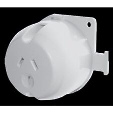 10 x Single Surface Socket 10 Amp 10A White Outlet Plug Base  for LED