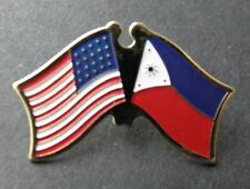 PHILIPPINES INTERNATIONAL COUNTRY USA COMBO FLAG LAPEL PIN BADGE 1 INCH