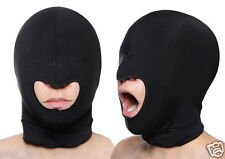Spandex Blindfold Eye Face Mask Open Mouth Hood Head Cover Opening Balaclava