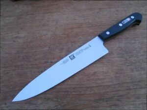 "Pre-owned Henckels Chef Knife w/VERY SHARP Fully Forged 8"" Blade Made in Spain"