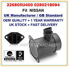 Mass Air Flow meter Sensor 226805U400 0280218094 for NISSAN PRIMERA(P11) 1.6 1.8
