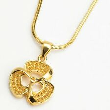 """New 18k Yellow Gold Filled Unique Pendant 18"""" Link popular Chain Charms Necklace"""