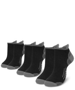 EDZ All Sport Merino Trainer Socks Black (3 pack)