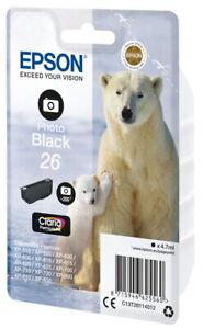 Epson Druckerpatrone Tinte 26 T2611 PBK photo black, photo schwarz
