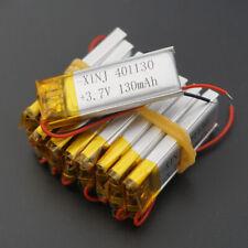 10 pcs 3.7V 130 mAh 401130 Polymer Li Battery Li Po For Mp3 headset GPS Toys MP3