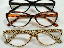 NEW +1.50 3 Pairs Betsey Johnson READING GLASSES Readers NO Box Cat Eye