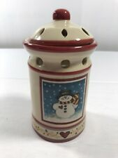 Dianna Marcum Snowman Hearts Christmas Wax Tart Warmer Holder Holiday Home Decor