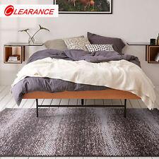 Large Brown Floor Rug Stripe High&Low Textured Super Soft Modern Carpet 190x280