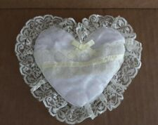 Pale Yellow Heart Shaped Ring Bearer Pillow